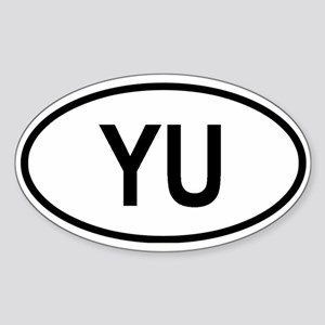 Yugoslavia Oval Sticker