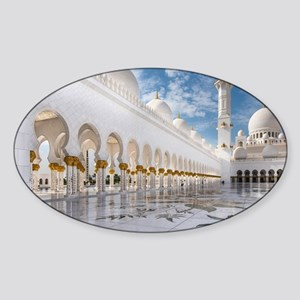 Sheikh Zayed Mosque Sticker (Oval)