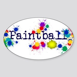 Paintball Paint Splatter Sticker