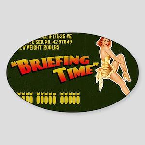 bomberbag Sticker (Oval)