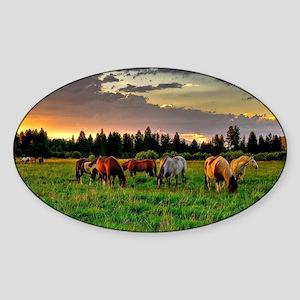 Horses Grazing Sticker