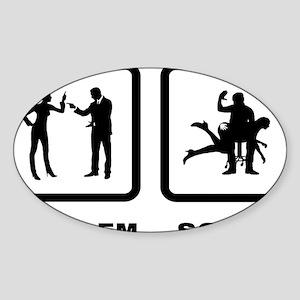 Spanking-10-A Sticker (Oval)