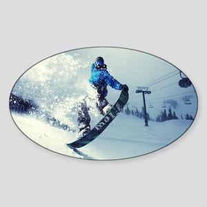 Snowboard extreme Sticker (Oval)