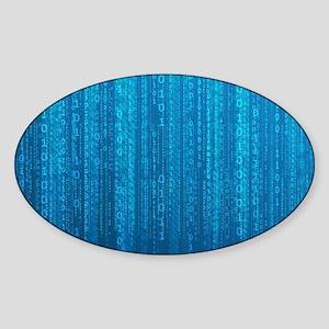 Binary Code Sticker (Oval)
