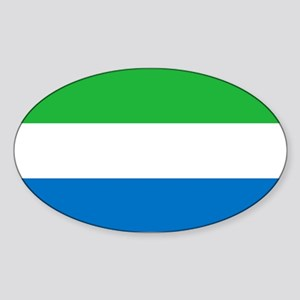 Flag of Sierre Leone Sticker (Oval)