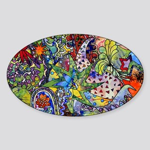 cool Paisley Sticker (Oval)
