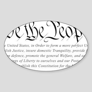 U.S.-Constitution-(white-shirt) Sticker (Oval)