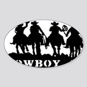 Cowboy Up Sticker (Oval)