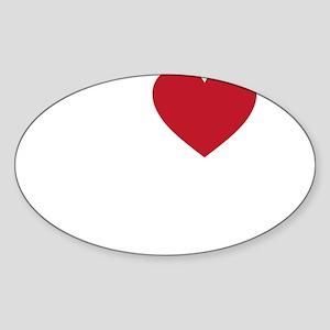 I Love Jidda Sticker (Oval)