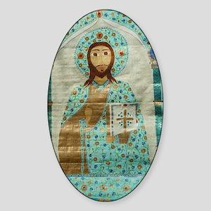 ChristTeacherMousepad Sticker (Oval)