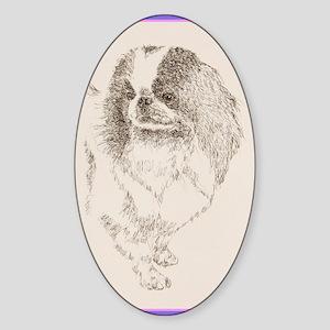 Japanese_Chin_KlineZ Sticker (Oval)