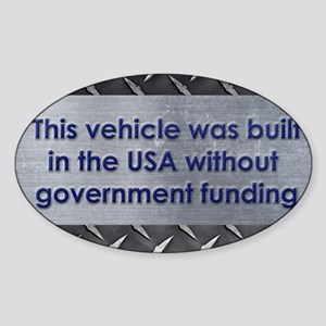 Built in the USA Sticker (Oval)