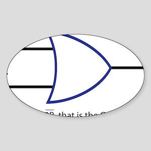2BORNOT2B Sticker (Oval)