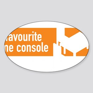 My Favourite Game Console - Commonw Sticker (Oval)