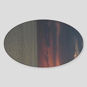 Sunriseprintleft_side Sticker (Oval)
