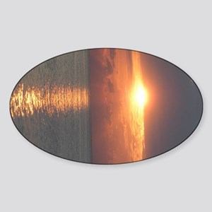 Sunriseprintcent_side Sticker (Oval)
