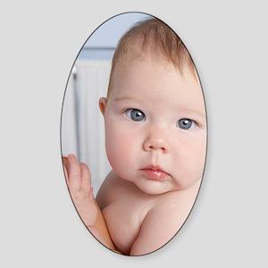 Baby girl - Sticker (Oval)