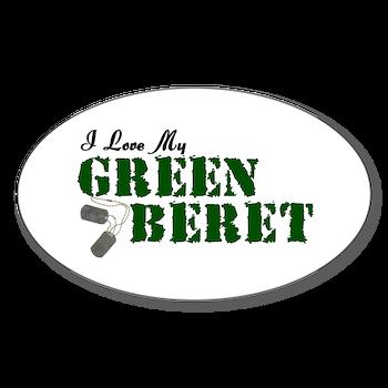 3f4db0f13a04b I Love My Green Beret Oval Decal   I Love My Green Beret   Married ...