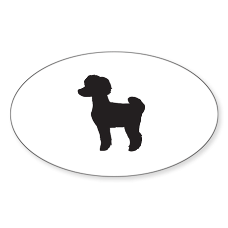 Toy Poodle Sticker (Oval)