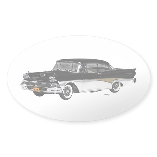 1958 Fairlane Black And White