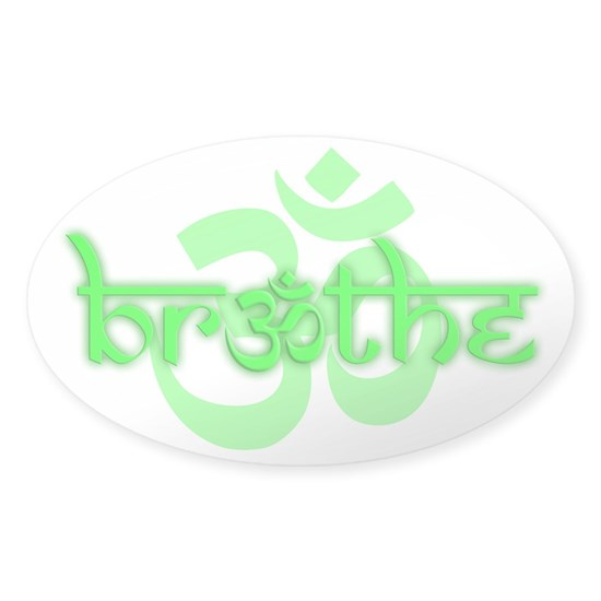 Oval Sticker - Lime Green