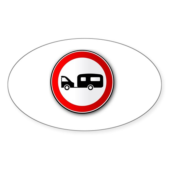 Caravan Road Traffic Sign