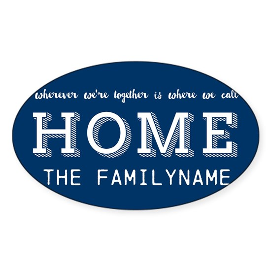 Navy and White Home Is... Personalized