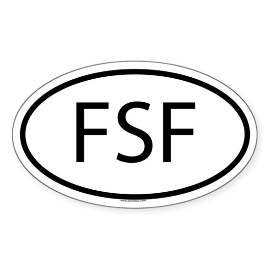 FSF_Oval White