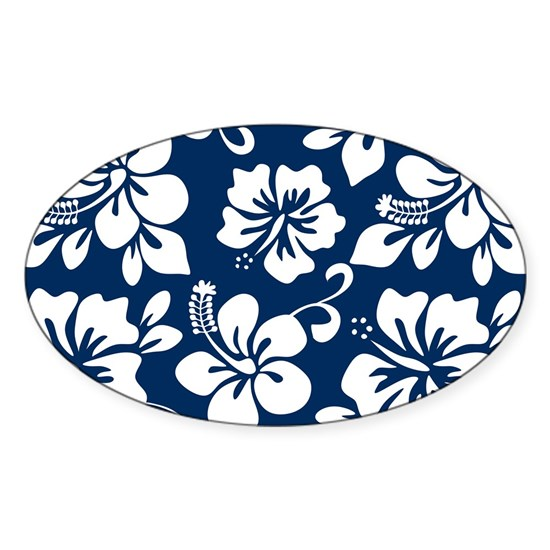 Navy Blue Hawaiian Hibiscus