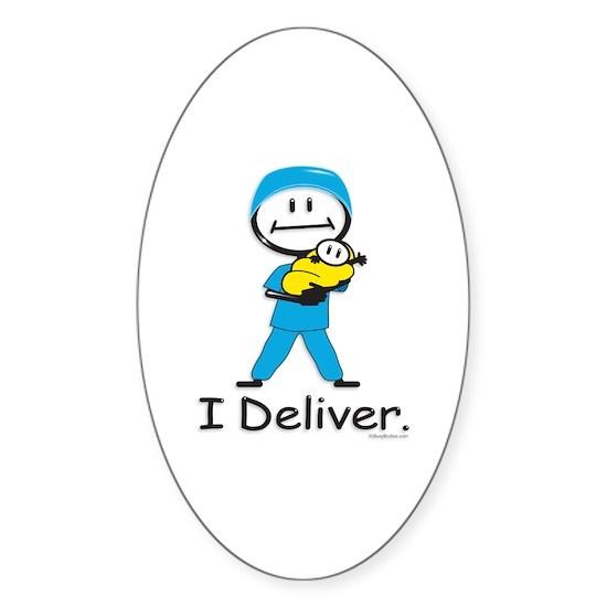 DoctorOB Sticker (Oval) OB Doctor / Nurse Oval Sticker by