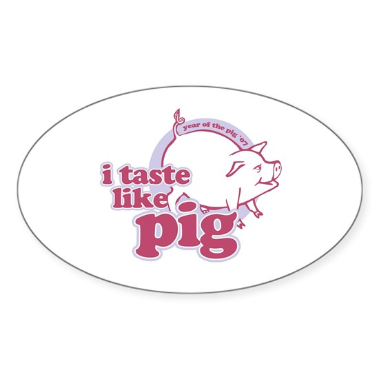 Year of The Pig 2007 Rectangle Sticker (Oval)
