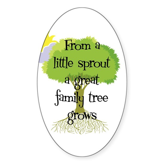 littlesprout2 Sticker (Oval) Little Sprout Oval Sticker by ...