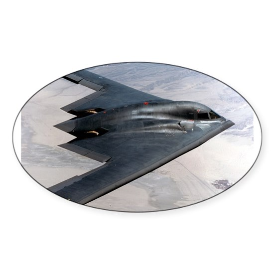 3 B 2 Stealth Bomber Sticker Oval B2 Stealth Bomber In