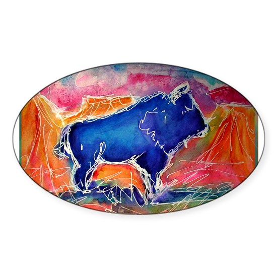 Buffalo, colorful, art!