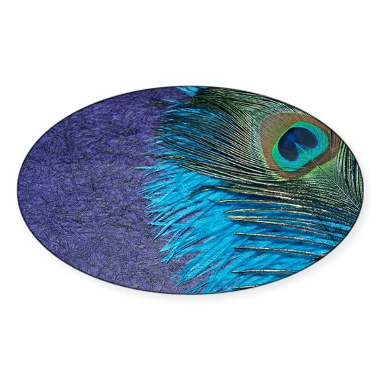 Purple and Teal Peacock