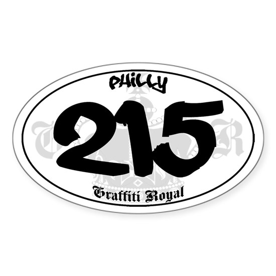 Philly 215 Oval Sticker Graffiti Sticker Oval Quot Philly