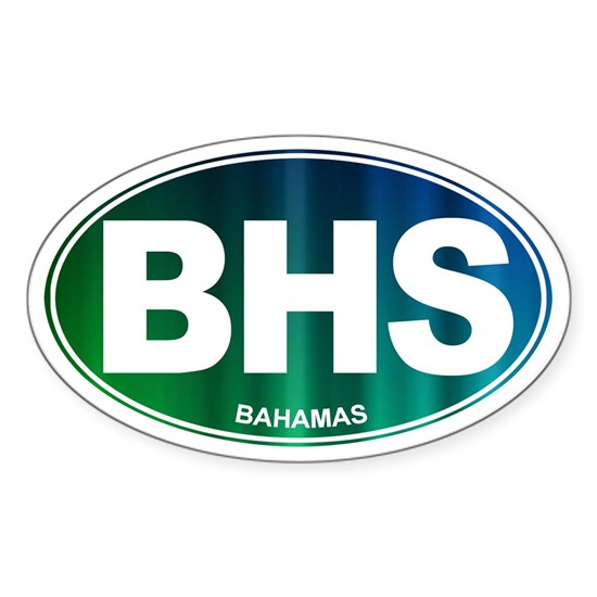 Bhs Wedding Gifts: Oval BAHAMAS Sticker (Oval) BHS