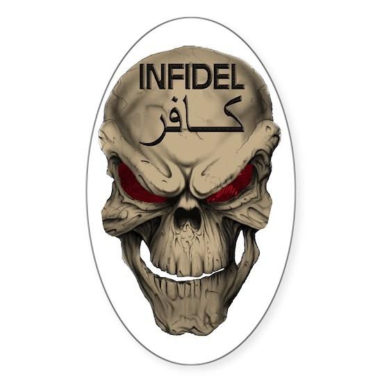 Red Eyed Infidel Skull