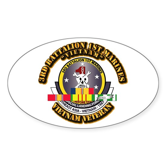 SSI - 3rd Battalion - 1st Marines w VN SVC Ribbon