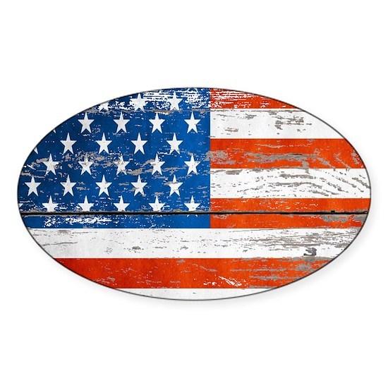 Primitive barnwood American Flag