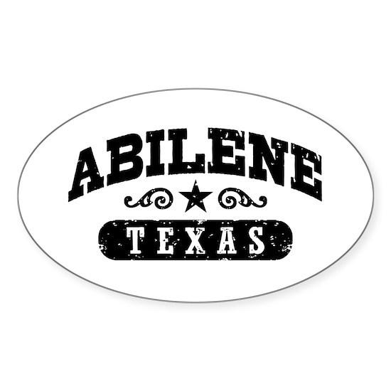 Abilene Texas Sticker (Oval) By Magarmor