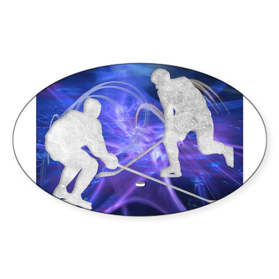 Ice Hockey Players Fighting for the Puck
