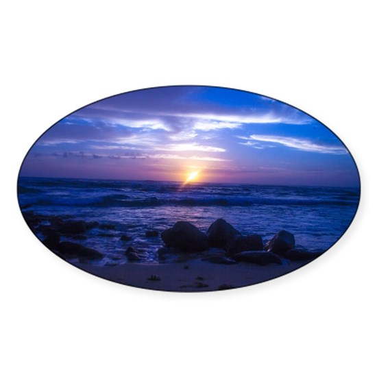 Beautiful blue Kauai sunset.