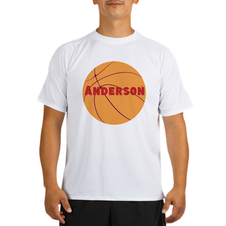 Personalized Basketball. Performance Dry T-Shirt