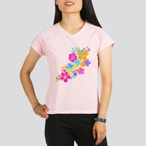 Tropical Flowers Women's Sports T-Shirt