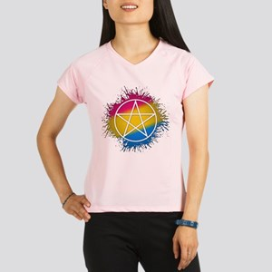 Pansexual Pride Pentacle Performance Dry T-Shirt