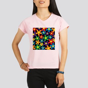 Flowers Colorful Performance Dry T-Shirt