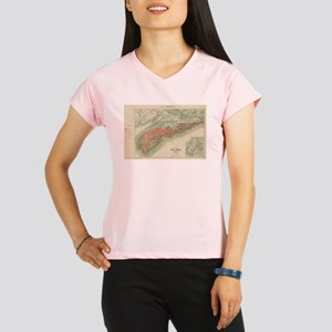 Vintage Geological Map of Performance Dry T-Shirt