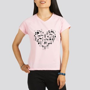 Heart Cats Performance Dry T-Shirt