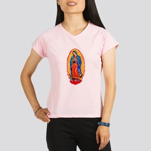 Virgin of Guadalupe Women's double dry short sleev
